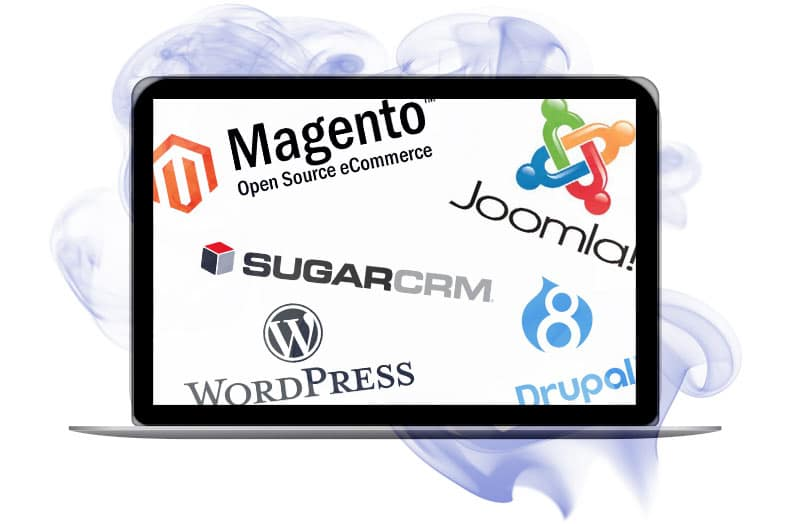 image of a variety of open source platforms